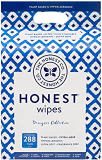 The Honest Company Designer Baby Wipes, Blue Ikat, 288ct