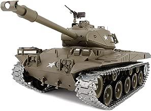 Modified Edition 1/16 2.4ghz Remote Control US M41A3 Walker Bulldog Tank Model(360-Degree Rotating Turret)(Steel Gear Gearbox)(3800mah Battery)(Metal Tracks &Sprocket Wheel)