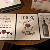 Amazon Com A Friend With Wine Is A Friend Of Mine Funny Sayings Wall Decor Set Of 3 8x10 Unframed Handmade