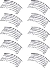 Lurrose 10pcs Minimalist Silver Metal Hair Side Comb Wedding Veil Wire Hair Combs
