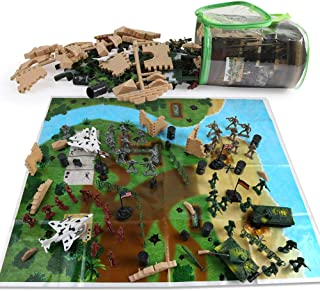 251 Pieces Military Base Set, Army Men Playset with Vehicles, Accessories & Play Map with Hand Bag, Plastic Toy Soldiers Set, Christmas Toys Gifts for 3 4 5 6 7 8 Year Old Boys Girls Kids