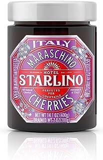 Hotel Starlino Italian Maraschino Cherries 400g Glass Jar | Perfect for Creating Premium Cocktails at Home ...