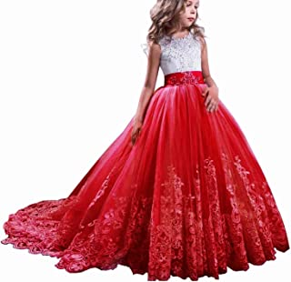 Girls Princess Pageant Dress Kids Prom Ball Gowns Wedding Party Flower Dresses
