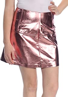 Womens Metallic Layered Mini Skirt