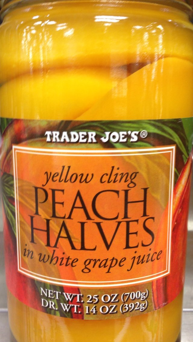 Trader Deluxe Joes Max 60% OFF Yellow Cling Peach White Juice Grape Halves in