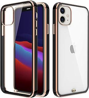 BAISRKE Crystal Clear Case for iPhone 11, Metallic Electroplated Edges,Slim Fit Lightweight Soft Flexible TPU Gel Bumper C...