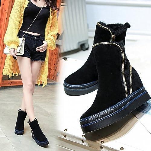GZZ Chaussures d'hiver, Bottes Chaudes Et épaisses, Bottes en Coton pour Femmes