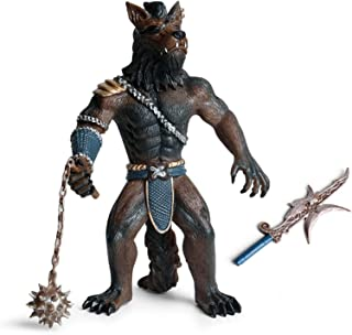 Eden Toys 狼男 狼人間 人狼 獣人 戦士 リアル フィギュア PVC プラモデル おもちゃ 模型 動物好き 誕生日 プレゼント オリジナル 塗装済 完成品