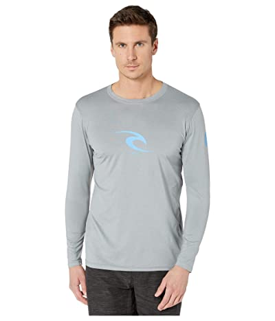 Rip Curl Icon Relaxed Long Sleeve Rashguard (Light Grey) Men