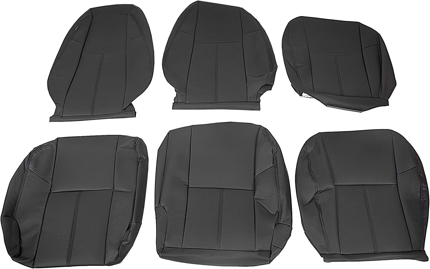 service ECOTRIC Synthetic Leather Seat Covers Kit with outlet Compatible Black