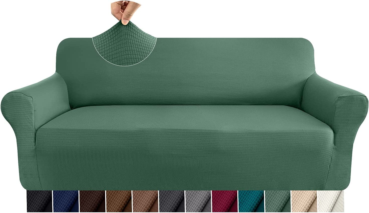 Granbest Thick High order Couch Cover 1 Piece 3 Stretch for Sofa Finally popular brand Fit