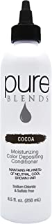 Pure Blends Hydrating Color Depositing Conditioner, Cocoa, Neutral Cool Brown Tones, 8.5 oz.