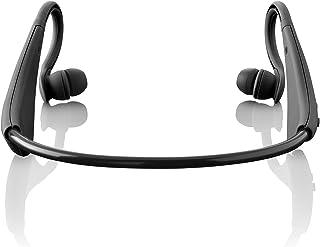 Lenco BH-100Neckband Wireless Binaural Headset and Microphone–Black (Headsets and Microphones Digital Binaural, Neck Su...