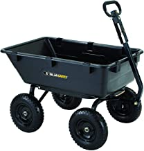 Gorilla Carts GOR6PS Heavy-Duty Poly Yard Dump Cart with 2-In-1 Convertible Handle,..