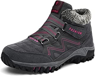 Mujer Botas de Nieve Senderismo Zapatos Antideslizantes Trekking Zapatos Invierno Piel de Forro Sneakers Transpirables