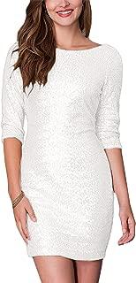 SUJAN Women's Sequins Dresses Midi Bridesmaid Maxi Gown …