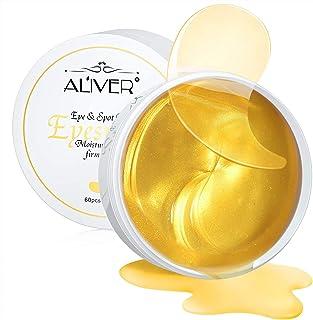Mascarilla para tratamiento debajo de los ojos de oro de 24 quilates - 30 pares de parches para los ojos para ojeras, anti...
