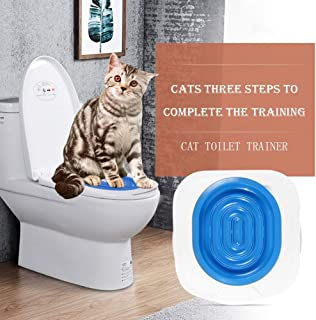 FOFOTOP Cat Toilet Training System Kitten Toilet Trainer Pad Convenient Disappearing Trainer Litter Box Alternative