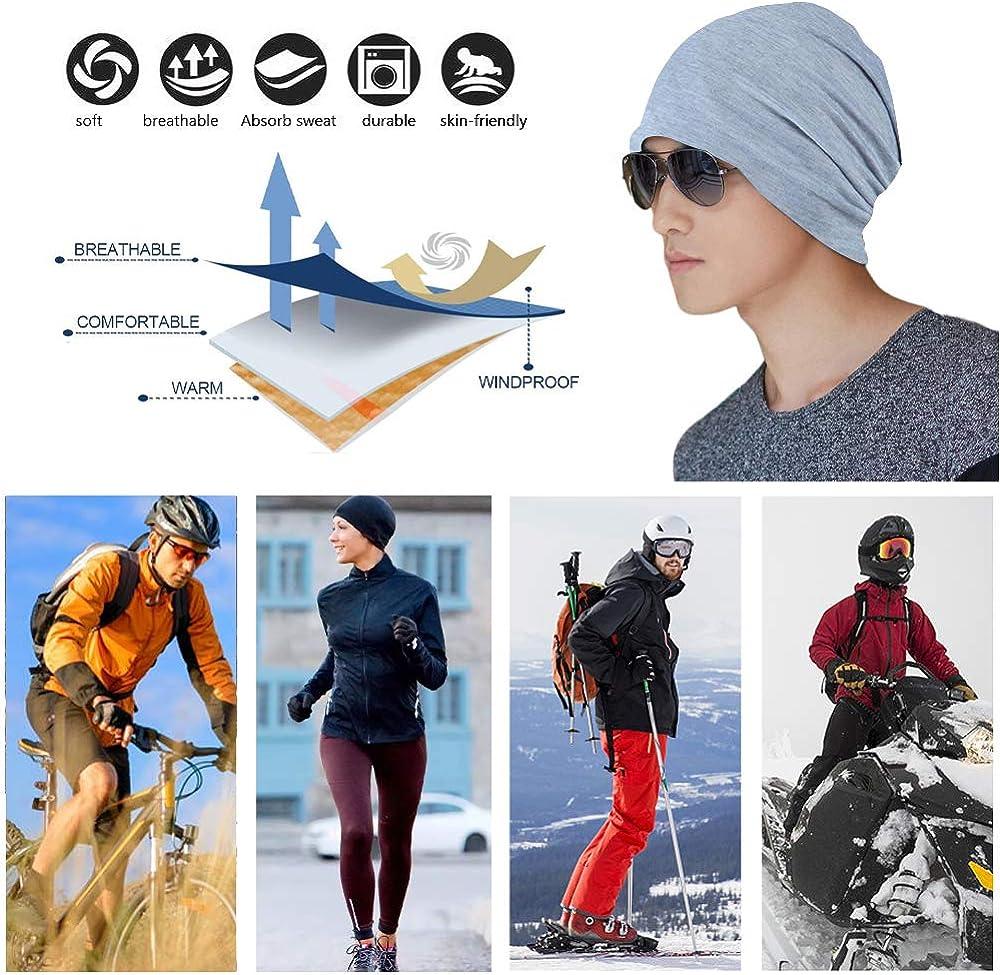 Cancer Chimio Casquette en Coton Turban Chapeau Extensible Musulman Foulard pour Femmes Hommes YOFASEN Bonnet Slouchy