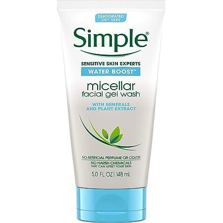 Simple Water Boost Micellar Facial Gel Wash Sensitive Skin 5 oz