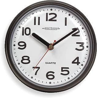 Pegasus 6NN64 Clock, Quartz, Round (1, Black)