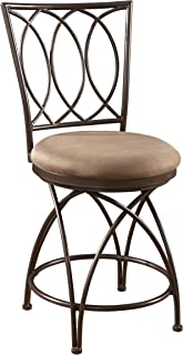 Powell Big and Tall Metal Crossed Legs Counter Stool, 9.49