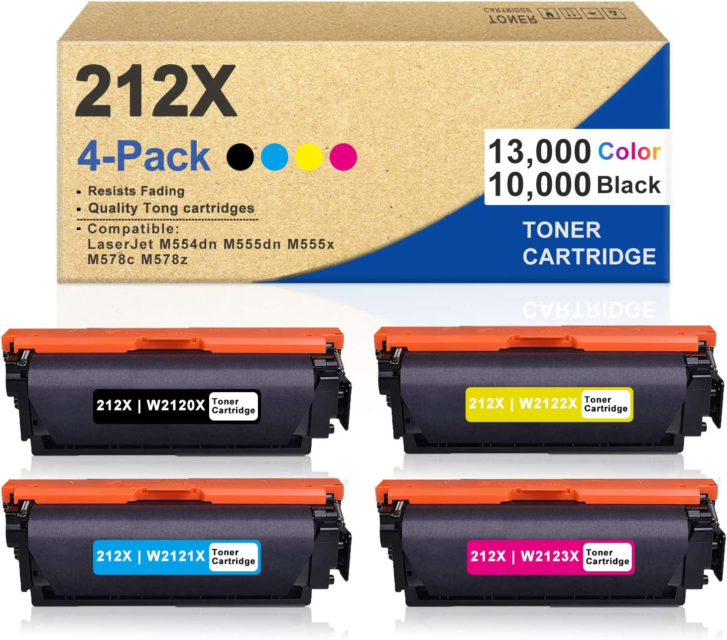 4 Pack Year-end annual account 1BK+1C+1M+1Y 212X W2120X Compati W2123X 2021new shipping free W2122X W2121X
