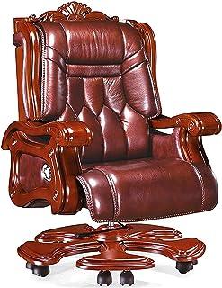 SMLZV كرسي مدرب مريح، عالي ظهر 360 درجة كراسي تنفيذية جلدية دوار مع مجرقة منجد، كرسي البالغة باهظة الثمن للعمل المنزل