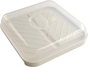 Nordic Ware Slanted Bacon and MeatTray, with Lid, White