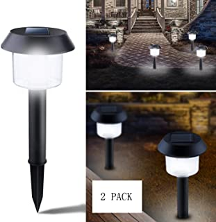 Solar Landscaping Light Waterproof Solar Powered Lights Outdoor Solar Landscape Spotlights for Yard Garden Driveway Porch Walkway Pool Patio 2 Pack