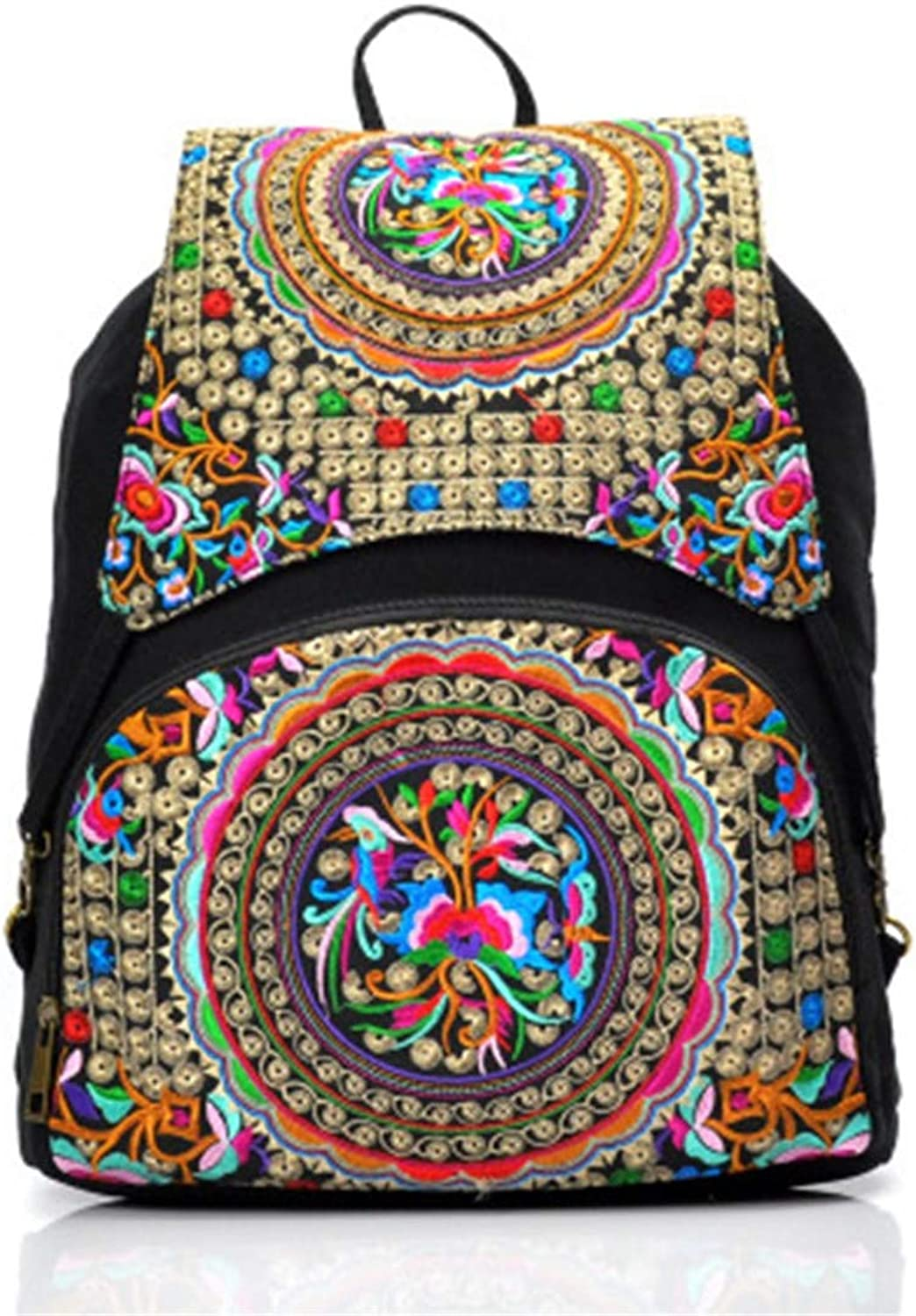 New National Wind Shoulder Bag Wholesale National Embroidery Bag Shoulder Bag Embroidered Backpack gz-40-2456