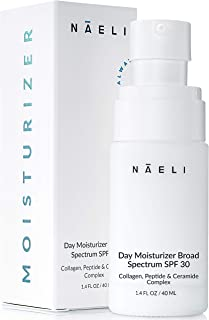 Face Moisturizer with SPF 30 - Anti Aging Collagen & Peptide Cream - Reduces Wrinkles & Plumps Skin - Lightweight Hydratio...
