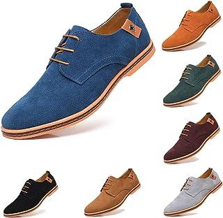 AARDIMI Chaussures de Ville Homme Cuir Nubuck Oxfords à Lacets Derbies Lace Up Homme Daim Richelieus Hommes Chaussures en ...