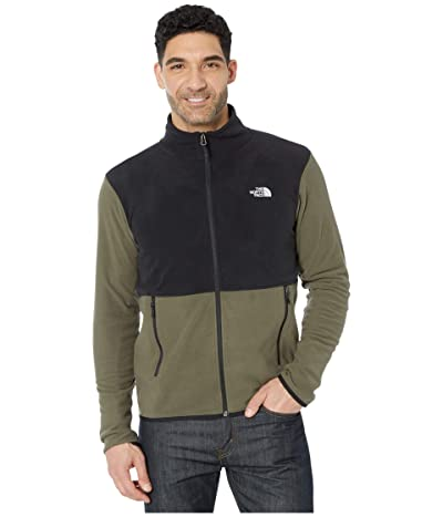 The North Face TKA Glacier Full Zip Jacket (New Taupe Green/TNF Black) Men