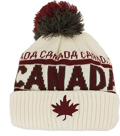 Canada Sport Warm Winter Hat Beanie True North Travel Tuque - Cream White 1a52fb42562