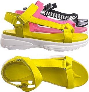 83e1e8341ec04 Amazon.com: 7.5 - Yellow / Platforms & Wedges / Sandals: Clothing ...