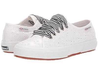 Superga 2750 Sangallosatinlacew Sneaker (White Eyelet) Women