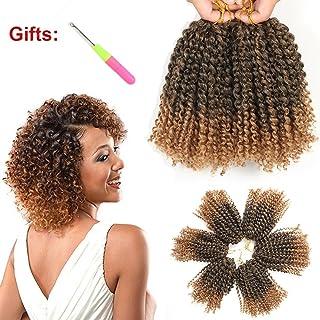 8 Inch Short Passion Twist Crochet Hair 6 Bundles Marlybob Crochet Hair Kinky Curly Crochet Hair for Black Women Water Wav...