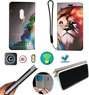 FY Flip Case For Tecno Pop 3 Plus Cover Flip PU Leather + Silicone Ring case Fixed YWSZ