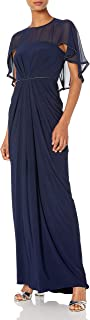 Women's Chiffon Jersey Draped Gown