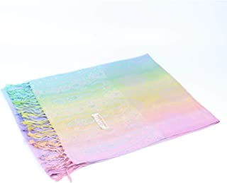 Rainbow Scarf Colorful Luxury Lightweight Shawl Wrap Pashmina Scarves for Women