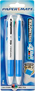 Paper Mate S20083105 1.0mm 4-Ball Ballpoint Neon Pen 2 Piece Set in Blister Pack