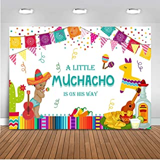 Mehofoto Mexican Fiesta Baby Shower Backdrop Taco Bout Little Boy Photography Background 7x5ft Vinyl Fiesta Baby Shower Party Banner Supplies