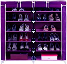 GTC Steel and Fabric Multi-Purpose Shoe Rack with Cover, 12 Shelf, (2712) Color May Vary