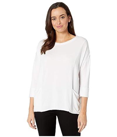 Fresh Produce Diana Boxy Lightweight Modal Spandex Sweatshirt (White) Women