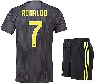 f9e751183f66b Scshirt Enfants Ronaldo Neuf Away Jerseys 18–19 Juventus   7 Maillot de  Football Soccer