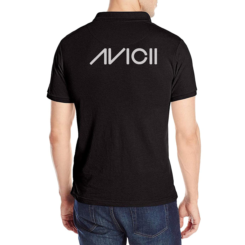 真似るカフェ準備したAvicii アヴィーチー ロゴ ポロシャツ ボタンダウン 半袖 Tシャツ メンズ スポーツ カジュアル 作業着 無地 通気 吸汗速乾 綺麗 ユニセックス バックプリント
