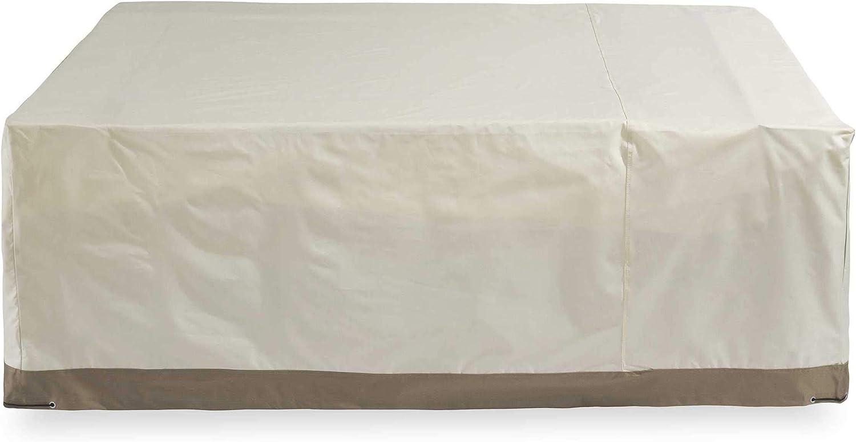 Lumaland Cubierta Lona Protectora Impermeable para Muebles de jardín 200 x 160 x 70 Oxford 600D 280 g/m² Beige
