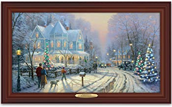Thomas Kinkade Authentic Canvas Print: A Holiday Gathering by The Bradford Exchange