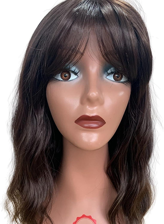 SXFY Ladies 2021 Mid-Length Wigs Air Max 52% OFF Bangs Big Hair Curly B Waves